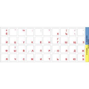 Наклейки на клавиатуру на прозрачном фоне