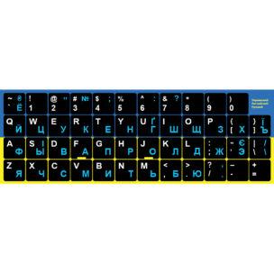 Наклейки на клавиатуру с Украинским, Русским и Английским языком
