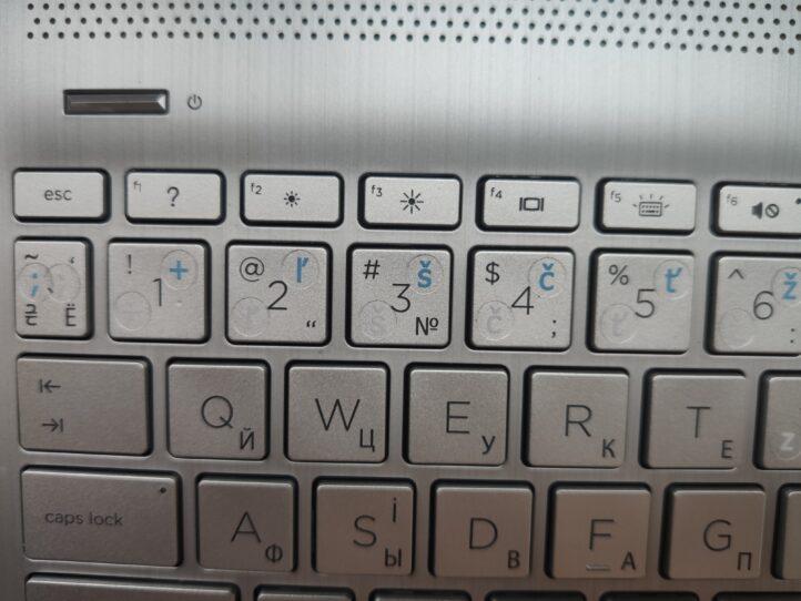 Наклейки на клавиатуру со словацкими символами