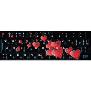 Наклейка на клавиатуру с принтом