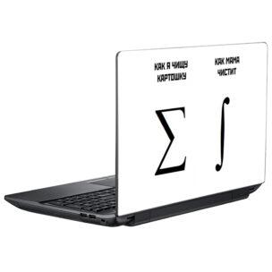 Наклейка на крышку ноутбука