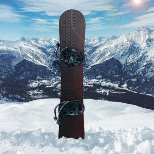 Наклейка на сноуборд Соты