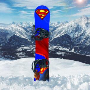 Наклейка на сноуборд Superman
